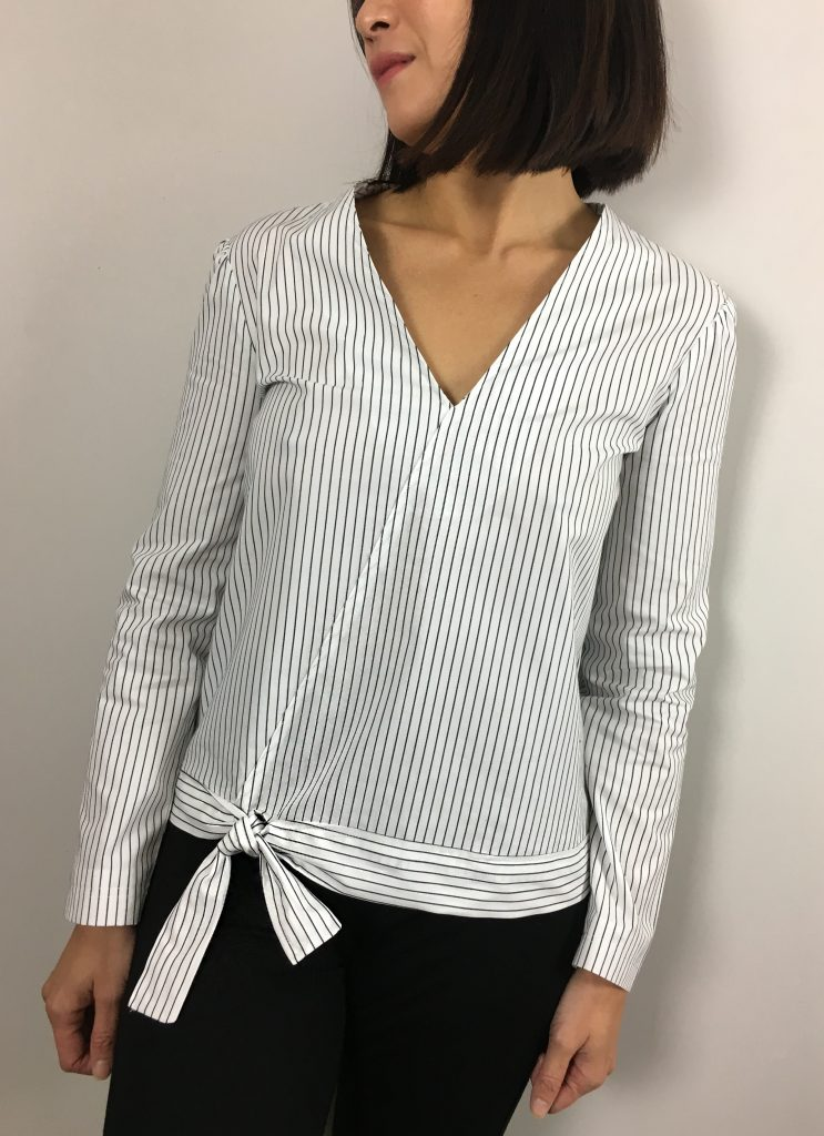 Blouse Rayures - Coton Pretty Mercerie - Legging Zara mode couture