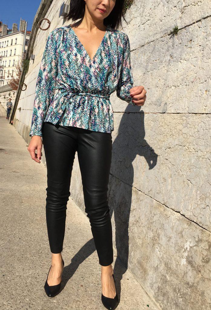 Blouse Franklin - Coralie Bijasson & Linna Morata - Crêpe Printstand - zara - mode couture