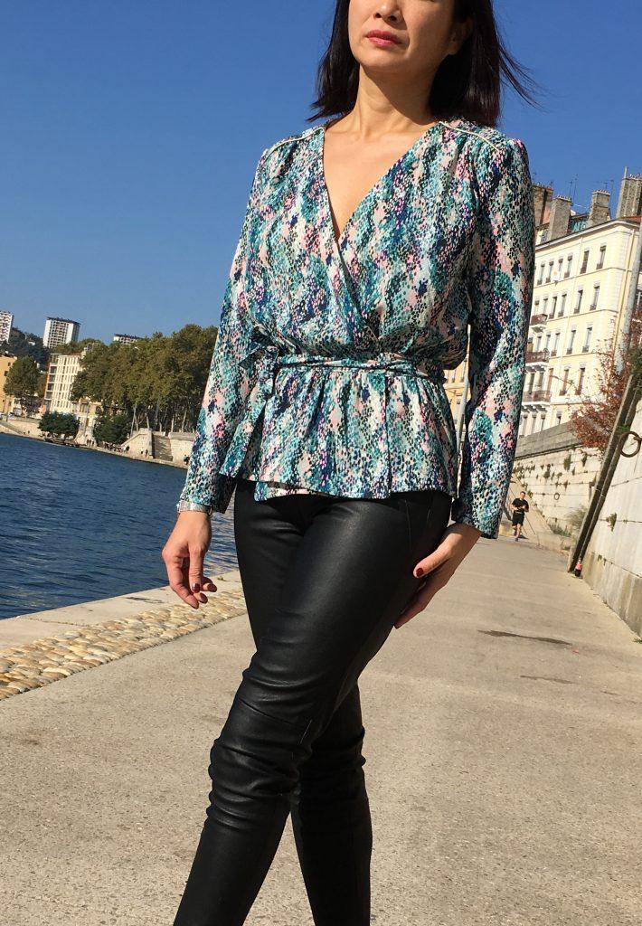 Blouse Franklin - Coralie Bijasson & Linna Morata - Crêpe Printstand - mode couture