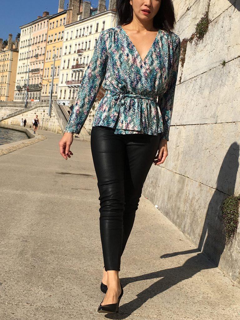 Blouse Franklin - Coralie Bijasson & Linna Morata - Crêpe Printstand - mode couture - zara