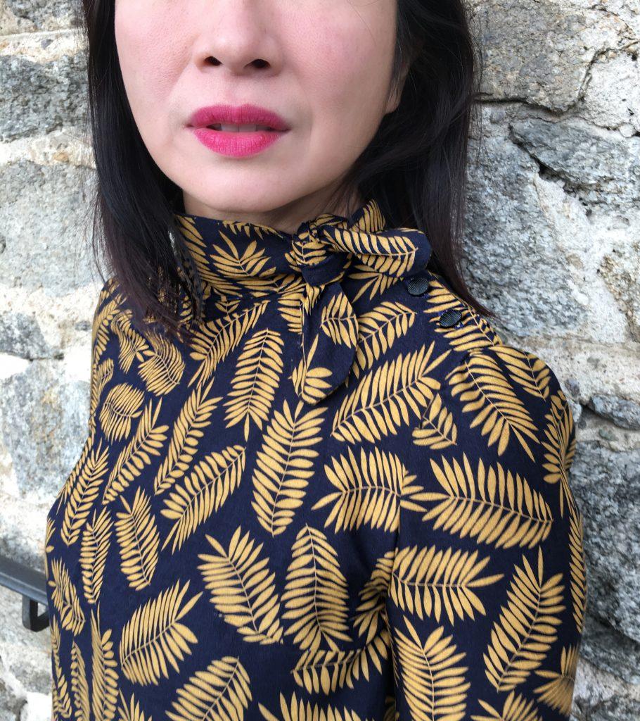 Blouse Robe Bristol by Orageuse - Pretty Mercerie - Legging Zara - Bottines Bobbies mode couture