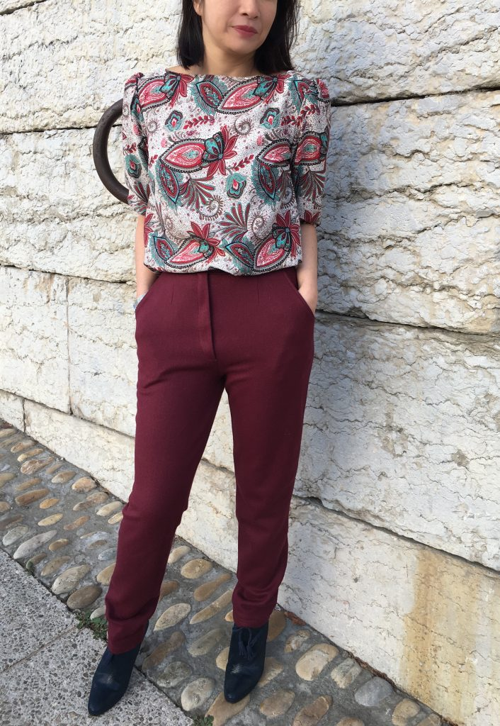 Pantalon 302 by DP Studio - Serge Laine Pretty Mercerie & Blouse Joy by Iam Patterns - Bottines Concorde by My Eponyme mode couture