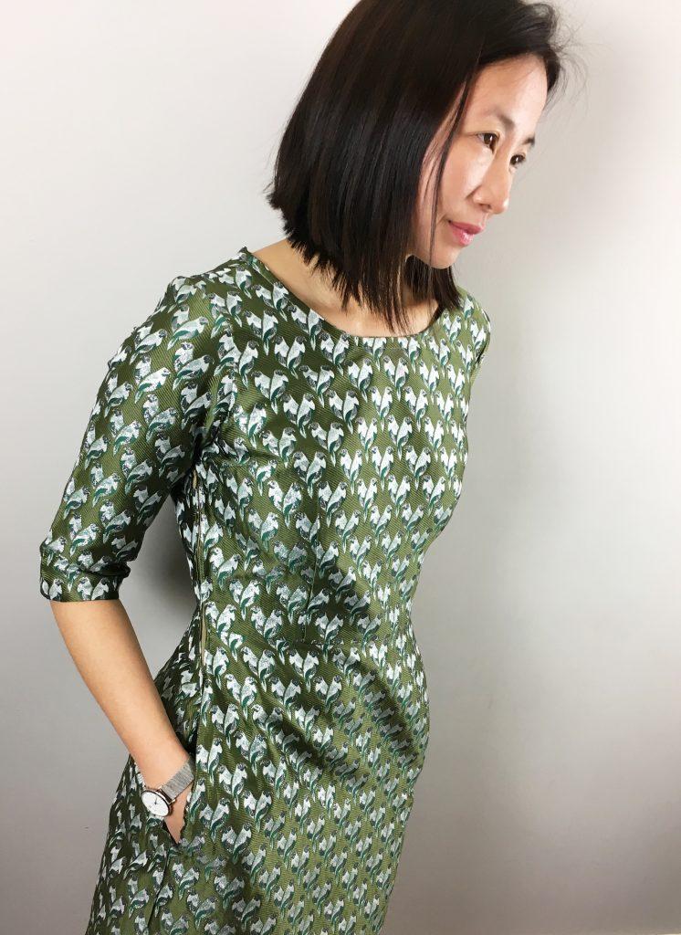 Robe Sigma by Papercut - Jacquard Pretty Mercerie - Escarpins Minelli - Montre Cluse blog mode couture