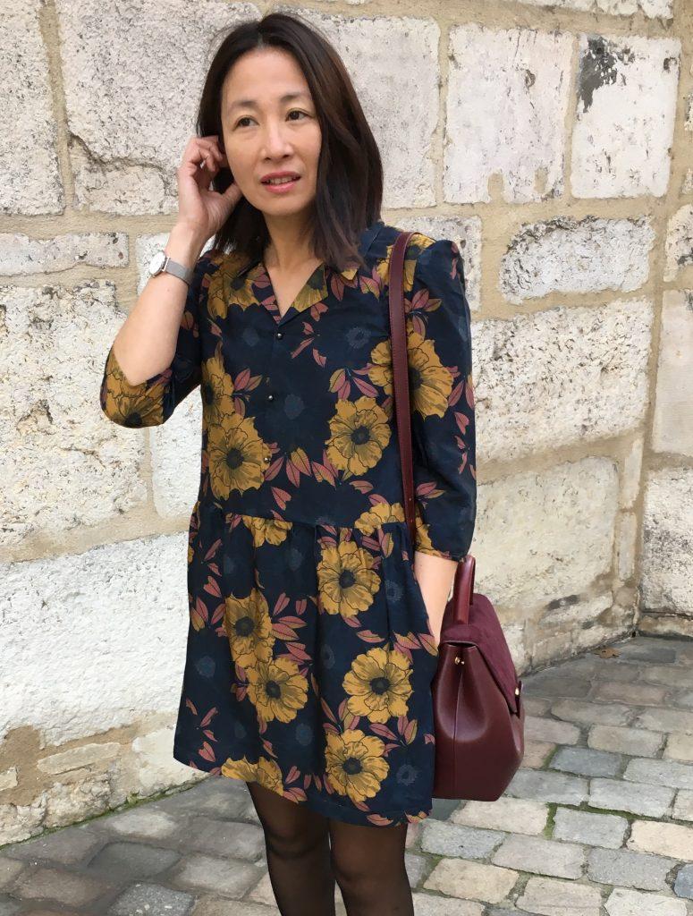 Robe Raphaelle by Addictiph x Chez Machine - Escarpins Minelli - Montre Cluse - Sac Polene blog mode couture