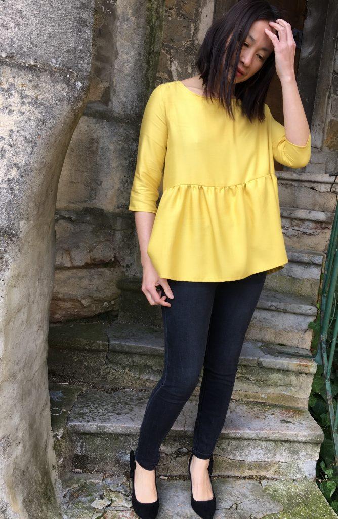 Blouse Vertige - Atelier Scammit & Pretty Mercerie - Jean Zara - Escarpins Mademoiselle R - blog mode couture